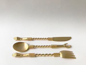 Gold Plated Hand Cutlery