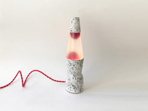 Ceramic Lava Lamp - Red Goo/Red Cord