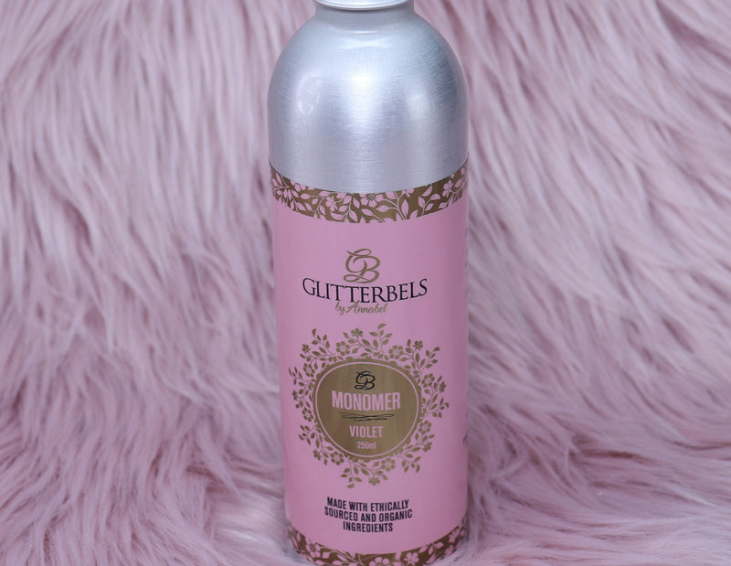 Glitterbels Violet Monomer 250ml - The Nail Throne