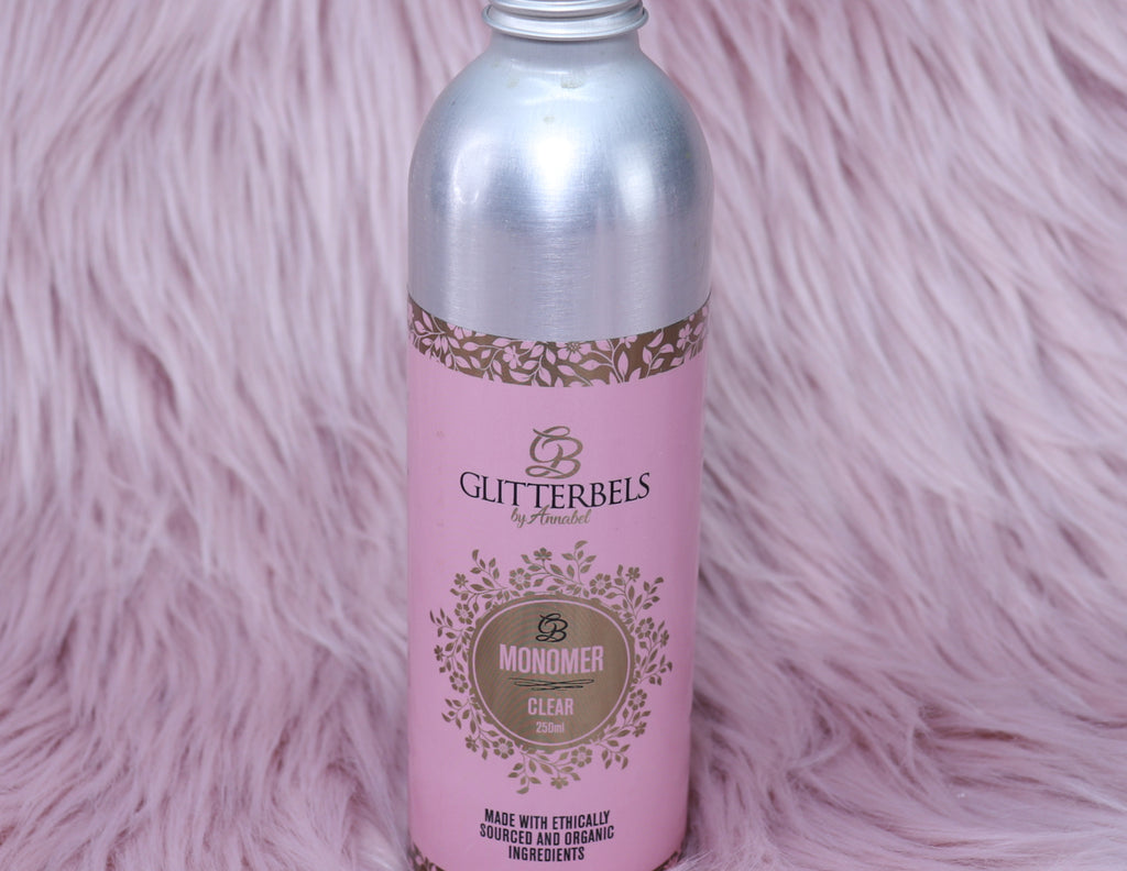 Glitterbels Clear Monomer 250ml - The Nail Throne