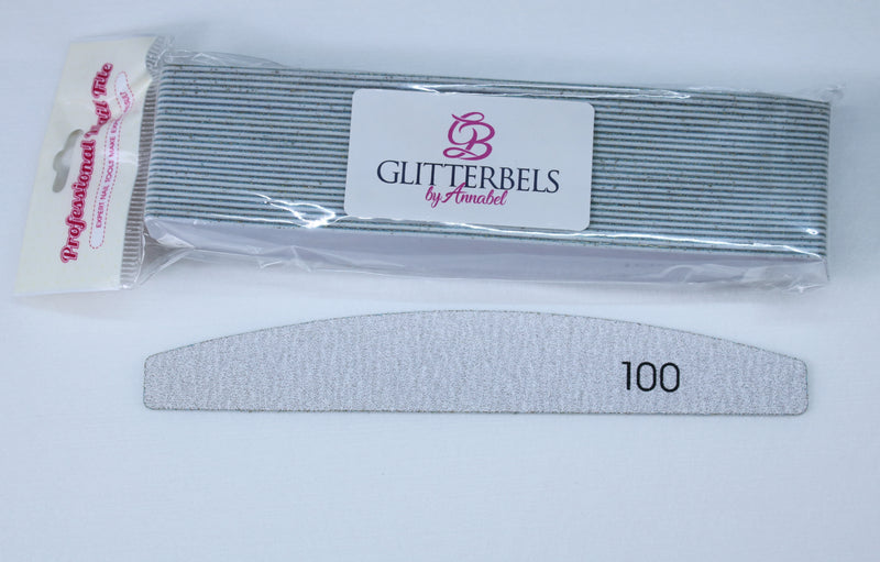 Glitterbels Removable Files for Metal File Board 100 Grit