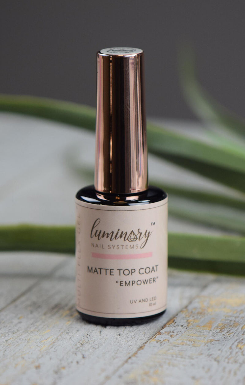 Empower Matte No Wipe Top Coat NEW - The Nail Throne