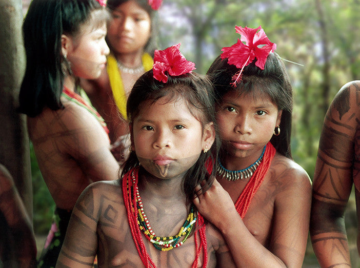 Embera-Wounaan Girls from Panama