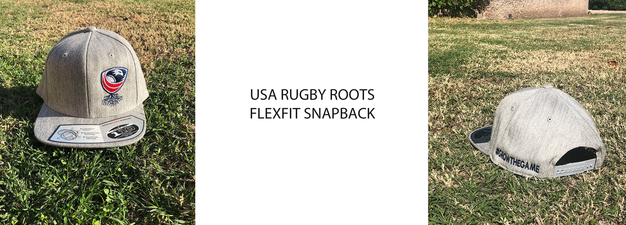 USA RUGBY ROOTS FLEXFIT SNAPBACK