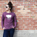 Washington Long Sleeve Crewneck Tee