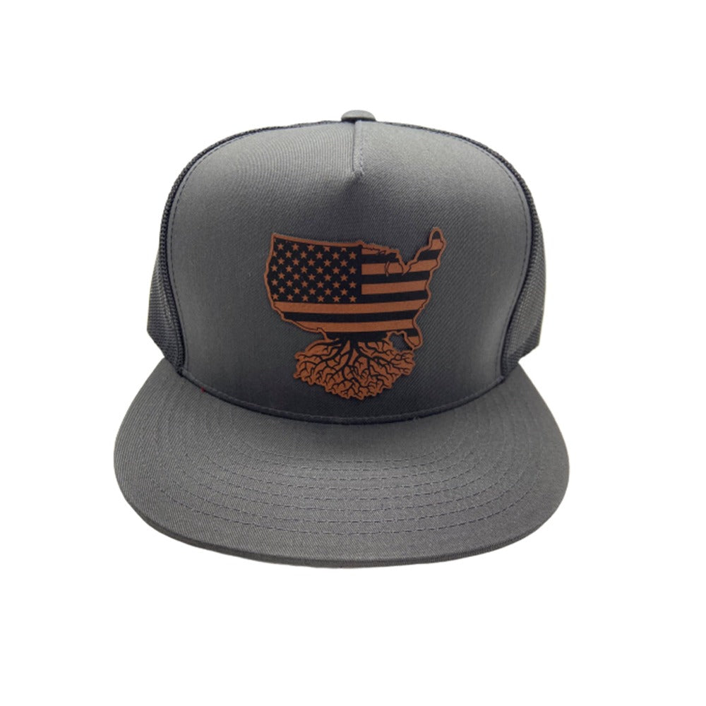USA Patch FlatBill Trucker