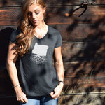 Women's Traditional Fit Tri-Blend V-Neck