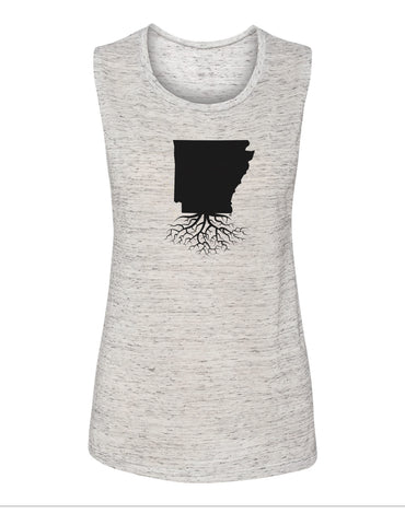 Arkansas Women's Muscle Tank
