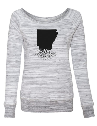 Arkansas Women's Off The Shoulder Sweatshirt