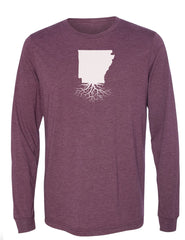 Arkansas Unisex Long Sleeve Tri-Blend Crew Tee