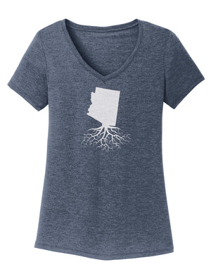 Arizona Women's Traditional Fit Tri-Blend V-Neck