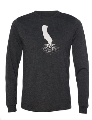 California Unisex Long Sleeve Tri-Blend Crew Tee