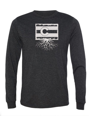 Colorado Unisex Long Sleeve Tri-Blend Crew Tee