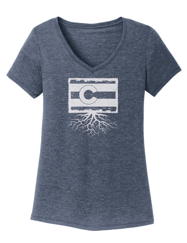 Colorado Women's Traditional Fit Tri-Blend V-Neck