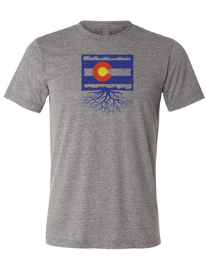 Colorado Men's Full Color Flag Tri-Blend Crew