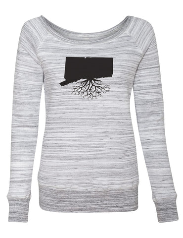 Connecticut Women's Off The Shoulder Sweatshirt
