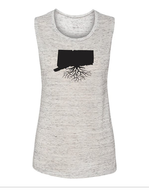 Connecticut Women's Flowy Muscle Tank
