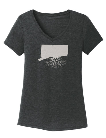 Connecticut Women's Traditional Fit Tri-Blend V-Neck