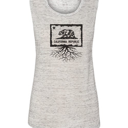 California Flag Women's Muscle Tank
