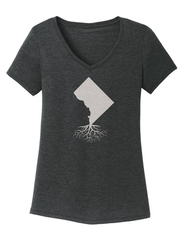 Washington DC Women's V-Neck Tee