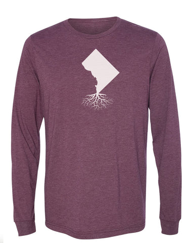 Washington DC Long Sleeve Crewneck Tee