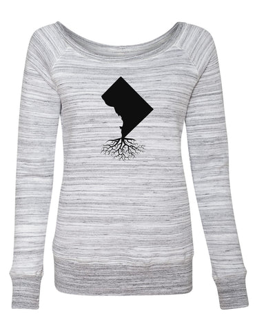 Washington DC Women's Off The Shoulder Sweatshirt