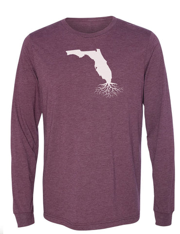 Florida Unisex Long Sleeve Tri-Blend Crew Tee
