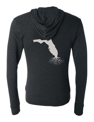Florida Unisex Triblend Zip Light-Weight Hoodie