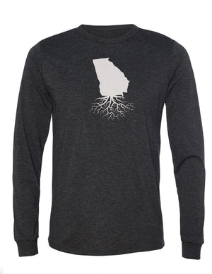 Georgia Unisex Long Sleeve Tri-Blend Crew Tee