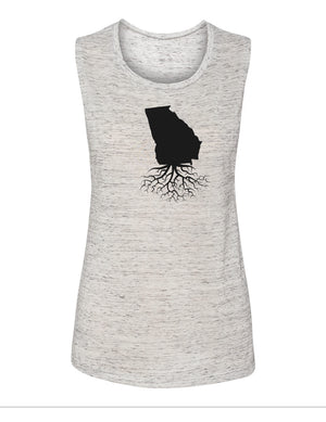Georgia Women's Flowy Muscle Tank