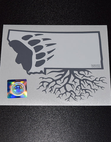 University of Montana Griz Decal