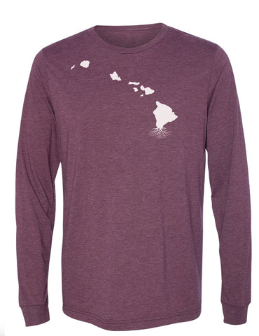Hawaii Long Sleeve Crewneck Tee
