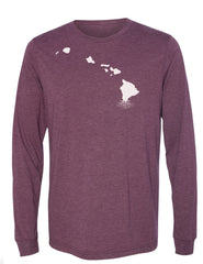 Hawaii Unisex Long Sleeve Tri-Blend Crew Tee