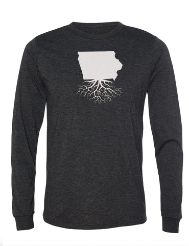Iowa Unisex Long Sleeve Tri-Blend Crew Tee