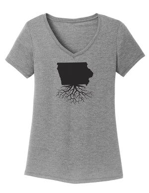 Iowa Women's Traditional Fit Tri-Blend V-Neck