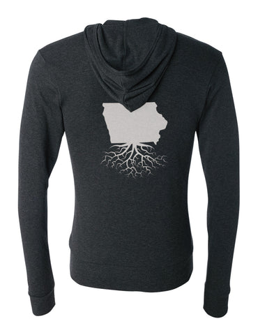 Iowa Unisex Triblend Zip Light-Weight Hoodie