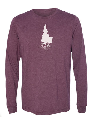 Idaho Unisex Long Sleeve Tri-Blend Crew Tee