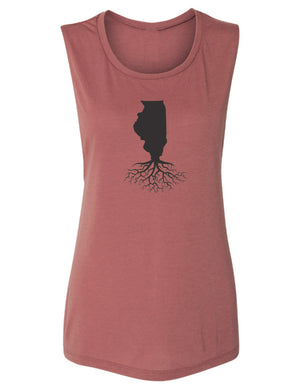 Illinois Women's Flowy Muscle Tank