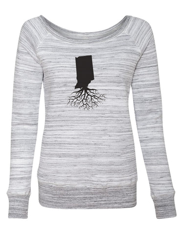 Indiana Women's Off The Shoulder Sweatshirt