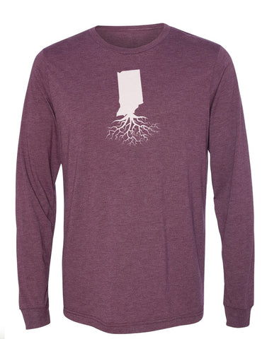 Indiana Unisex Long Sleeve Tri-Blend Crew Tee