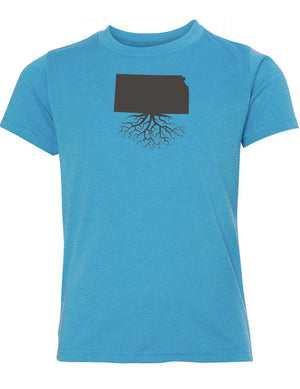 Kansas Youth TriBlend Tee
