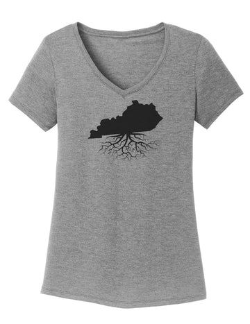 Kentucky Women's Traditional Fit Tri-Blend V-Neck