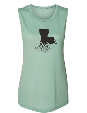 Louisiana Women's Flowy Muscle Tank