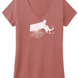 Massachusetts Women's V-Neck Tee
