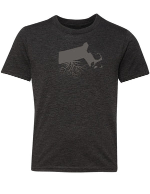 Massachusetts Youth TriBlend Tee