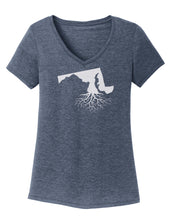 Maryland Traditional Fit Tri-Blend V-Neck