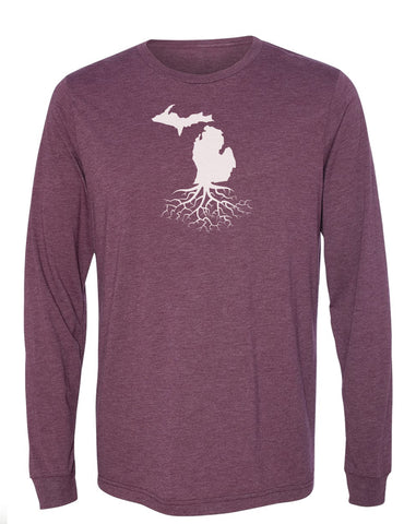 Michigan Long Sleeve Crewneck Tee