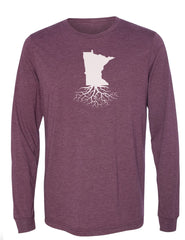 Minnesota Unisex Long Sleeve Tri-Blend Crew Tee