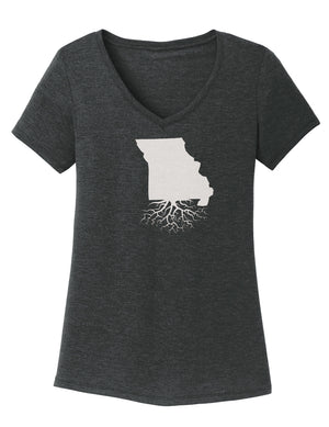 Missouri Traditional Fit Tri-Blend V-Neck