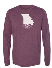 Missouri Unisex Long Sleeve Tri-Blend Crew Tee